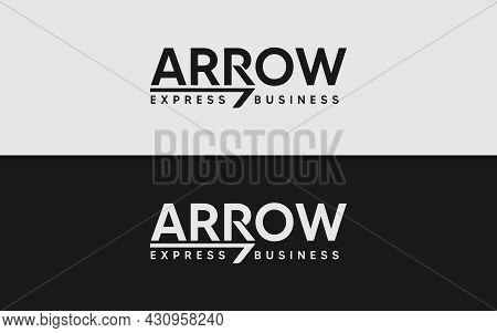 Abstract Logotype With Arrow As The Main Shape. Modern Minimalist Logotype Logo Design. Graphic Desi