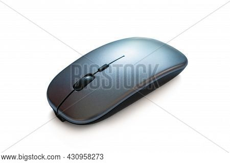 Wireless Mouse Isolated On White Background With Clipping Path, Selective Focus