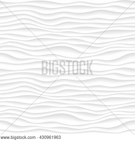 Abstract Gradient Pattern With Volumetrical Waves. Dunes 3d Relief, Interior Wall Decorative Panel.