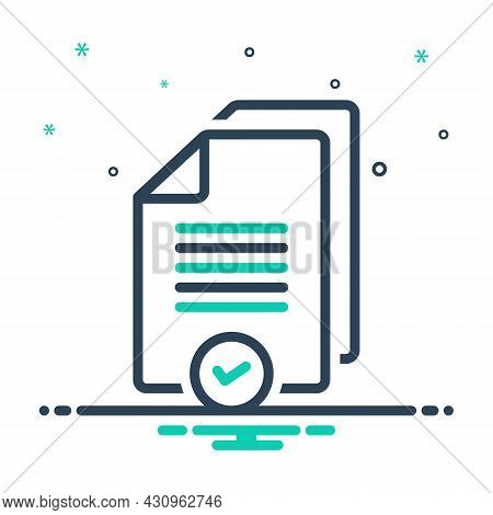 Mix Icon For Proper Reasonable Advisable Right Suitable Pertinent Wrong Document Paper