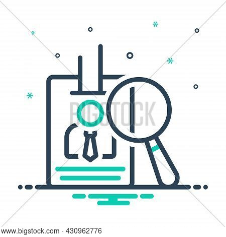 Mix Icon For Proof Evidence Vindication Authentication Identity Certificate Documentation