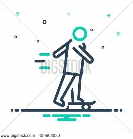 Mix Icon For Let Lets-go Skating Active Entertainment Hipster Sport