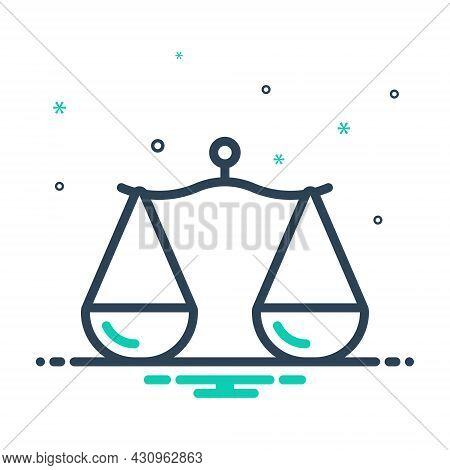 Mix Icon For Proportion Comparison Libra Rate Scale Measure Ratio Equality Equilibrium Balance Weigh