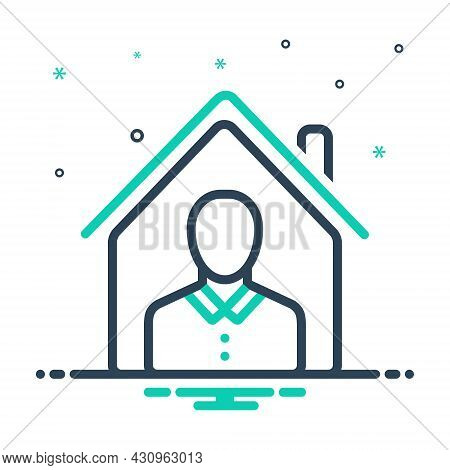 Mix Icon For Property Owner Assets Wealth Belongings Possessions House