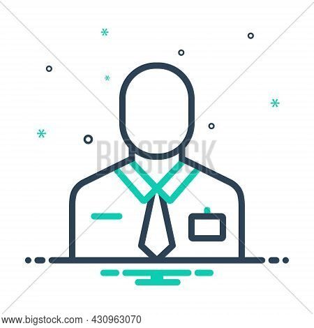 Mix Icon For Employee Worker Member-of-staff Staffer Laborer Practician Roustabout Working-man Membe