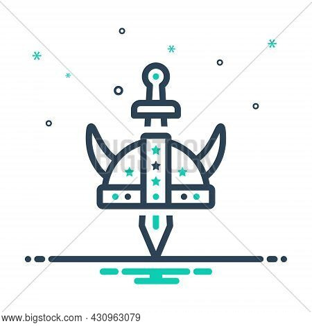 Mix Icon For Historic Mythological Emperor Famous Significant Memorable Important Consequential