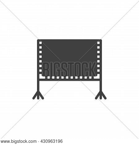 Blank Billboard Vector Icon. Filled Flat Sign For Mobile Concept And Web Design. Whiteboard Glyph Ic