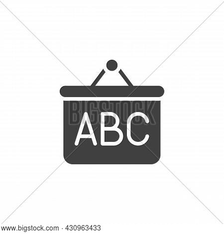 Abc Whiteboard Vector Icon. Filled Flat Sign For Mobile Concept And Web Design. School Board With Ab
