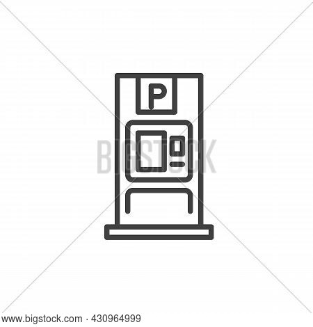 Parking Meter Line Icon. Linear Style Sign For Mobile Concept And Web Design. Car Parking Meter Outl