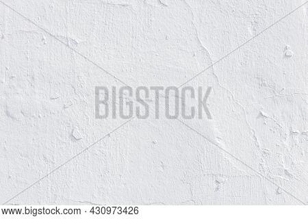 Shabby White Plaster Texture And Full Frame Background