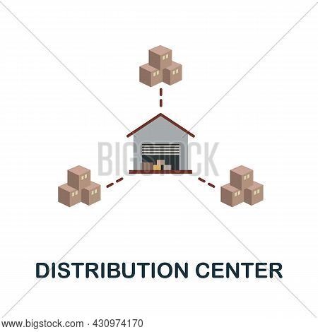 Distribution Center Flat Icon. Simple Sign From Logistics Collection. Creative Distribution Center I