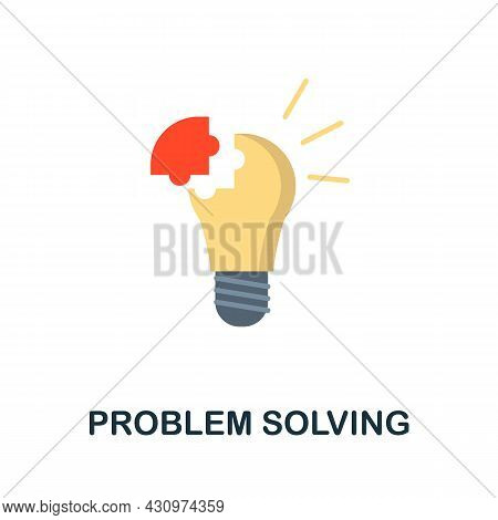 Problem Solving Flat Icon. Colored Sign From Machine Learning Collection. Creative Problem Solving I