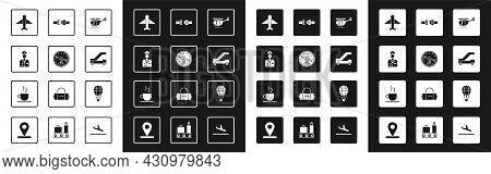 Set Helicopter, Compass, Pilot, Plane, Passenger Ladder For Plane Boarding, Safety Belt, Hot Air Bal