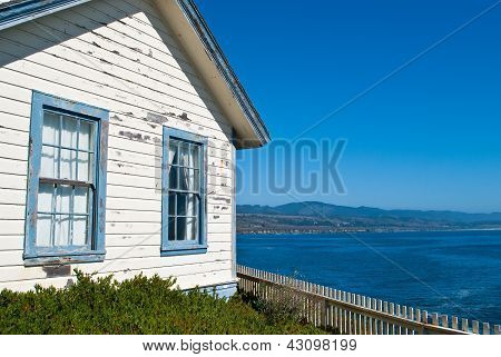 Weathered House by the Sea in Central California USA poster