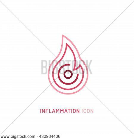 Inflammation, Pain, Angriness Sign. Editable Vector Illustration In Modern Outline Style