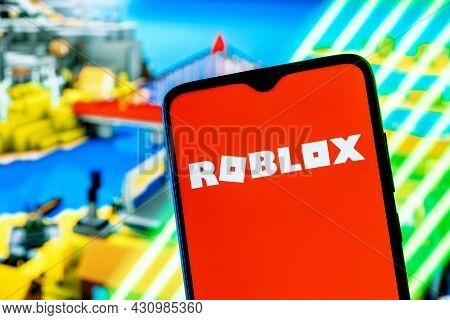 Kazan, Russia - August 25, 2021: Roblox Is An Online Game Platform And Game Creation System. Roblox