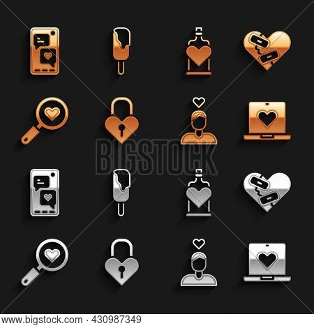 Set Castle In The Shape Of A Heart, Healed Broken, Dating App Online, Couple Love, Search And, Bottl