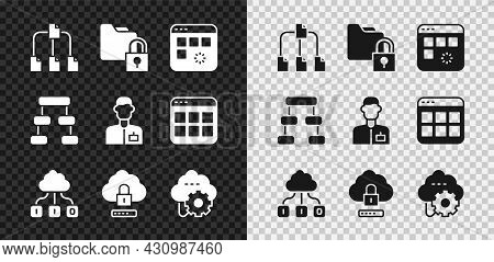 Set Folder Tree, And Lock, Loading Data Window, Cloud Technology Transfer, Computing, Hierarchy Orga