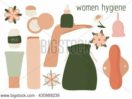 Women Hygiene Set, Eco-friendly Reusable Menstrual Cup, Zero Waste Periods