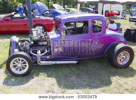 1932 Chevy Roadster Purple