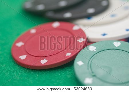 A few poker chips