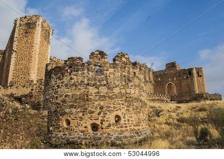 San Martin De Montalban, Toledo, Espas�a, Montalban Castle, Towers, Facade
