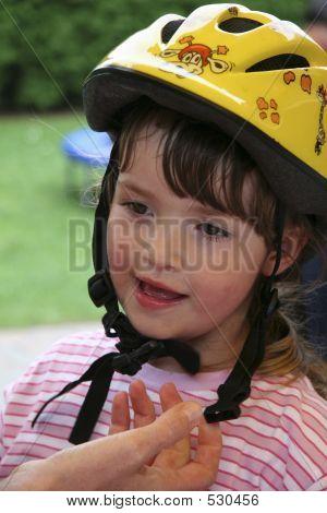 Child With Bicycle Helmet