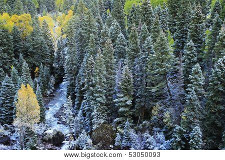 Mount Sneffels Range With Fresh Snow, Colorado