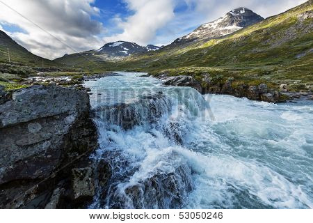 mountains in Norway, Jotunheimen National Park poster