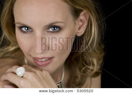 Blonde Female Model