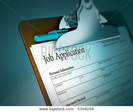 Clipboard With Job Application