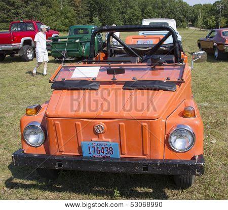 1974 Volkswagen Thing Orange Car Front View