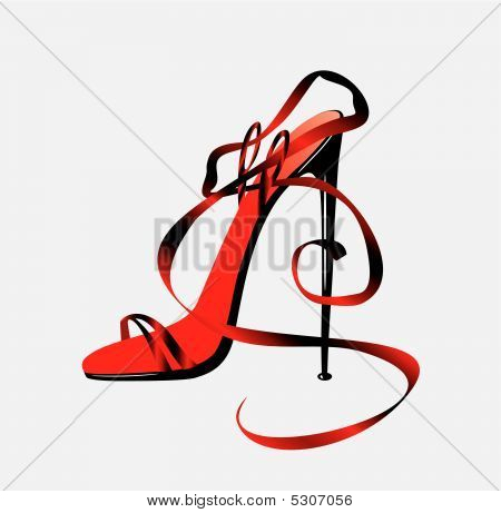 The Barafoot Person On A High Heel.
