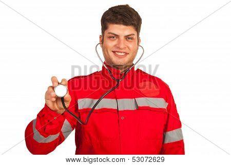 Happy Paramedic Man