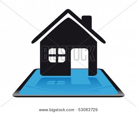 Modern home icon