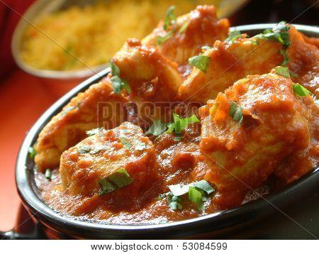 Chicken Bhuna Curry With Pilau Rice