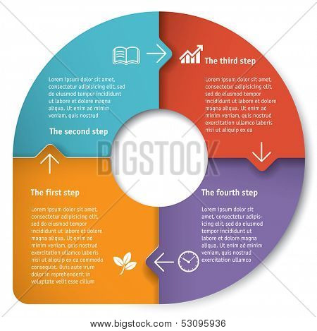 Infographic vector template.