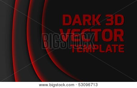 Abstract dark black and red modern vector template