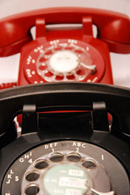 Red And Black Telephones