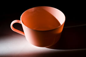 Plastic Pink Coffee Cup