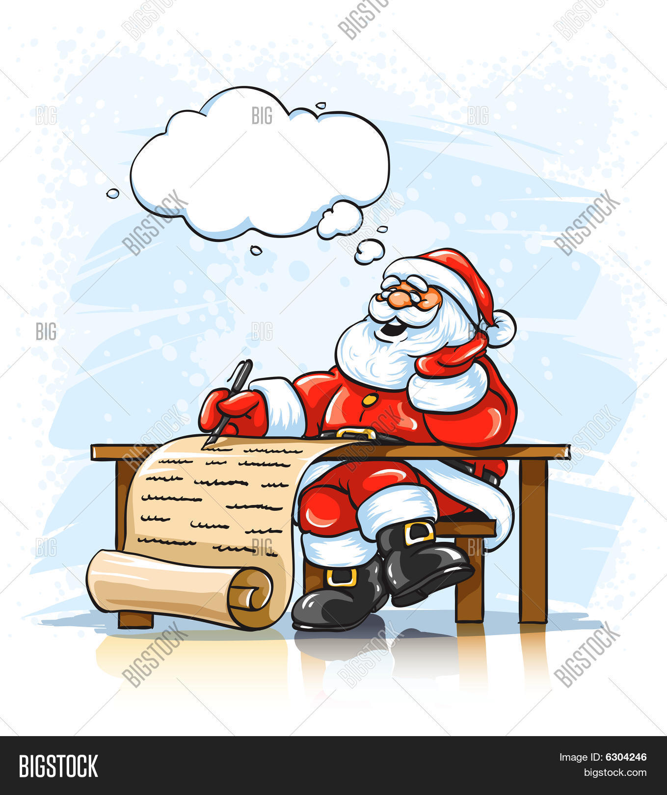 Santa Claus Writing Vector Photo Free Trial Bigstock