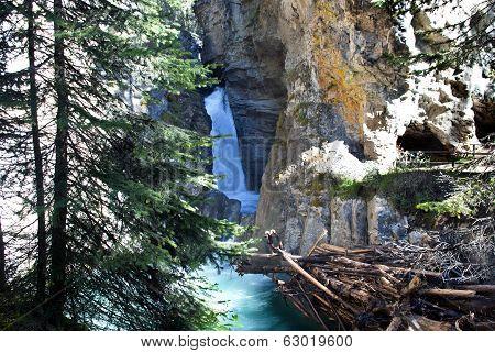 Waterfalls In Johnston Canyon