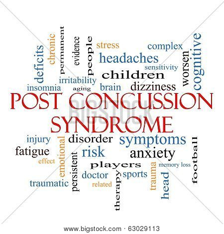 Post Concussion Syndrome Word Cloud Concept