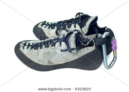 Carabiner And Climbing Shoes