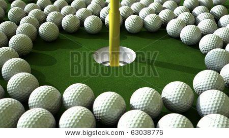 Golf Ball Hole Assault