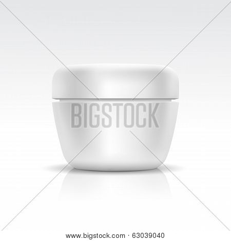 Vector Blank Cosmetic ?ontainer for ?ream, Powder or Gel