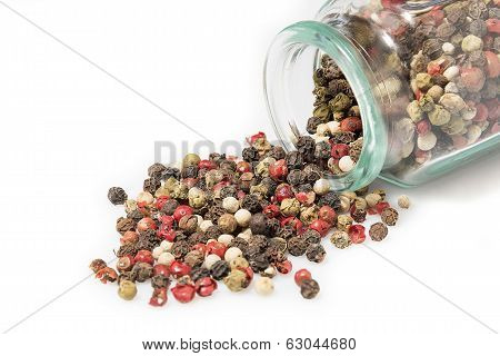 Peppers Mix In A Glass Jar