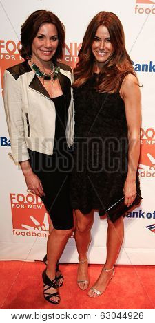 NEW YORK-APR 9: TV personality Countess LuAnn de Lesseps (L) and Kelly Bensimon attend the Food Bank for New York City's Can Do Awards Gala at Cipriani Wall Street on April 9, 2014 in New York City.
