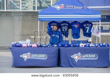 Blue Jays Memorabilia Outside The Stadium