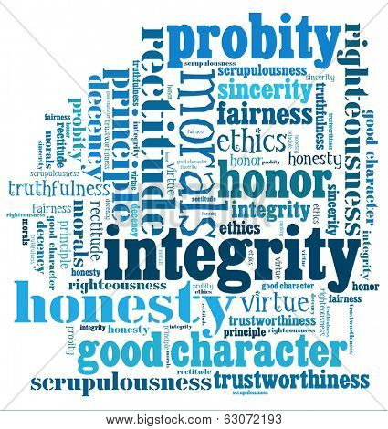 Integrity in word collage
